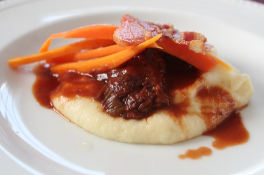 Braised Pork Cheeks with Parsnip Puree