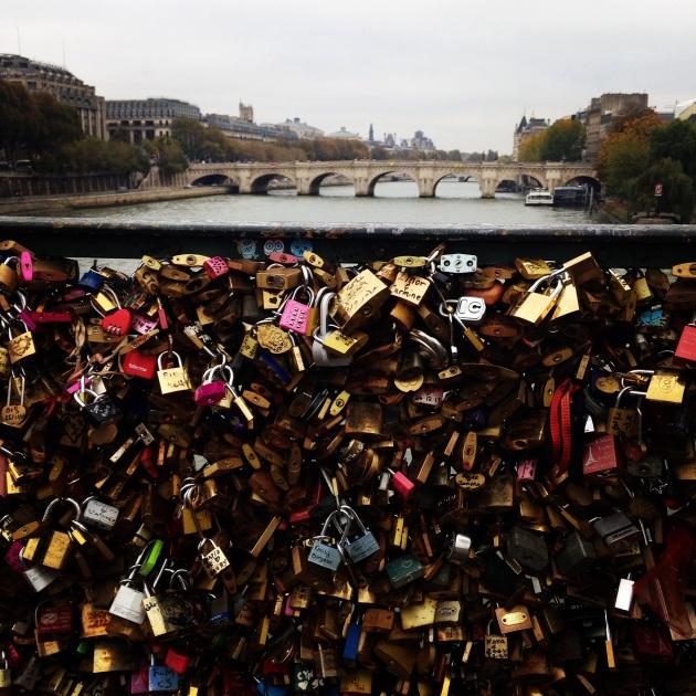 paris, honeymoon, love, lock bridge, pont neuf