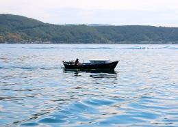 istanbul fisherman fishing sea marmara