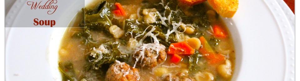 soup, dinner, italian, wedding, meatballs, pasta
